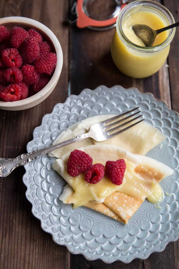 Whole Wheat Crepes with Lemon Curd