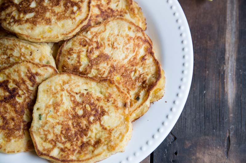 Fresh Corn Griddle Cakes • theVintageMixer.com