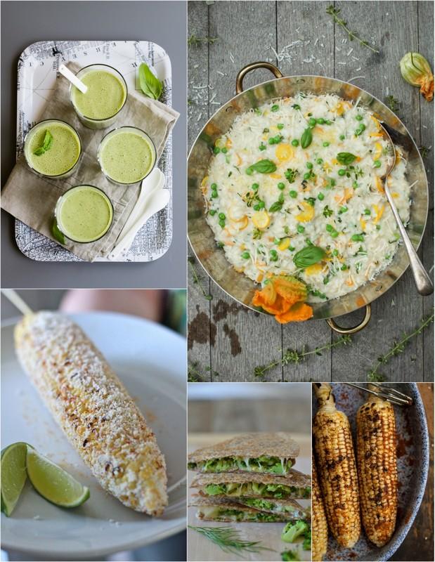Seasonal Recipes for July • theVintageMixer.com #eatseasonal
