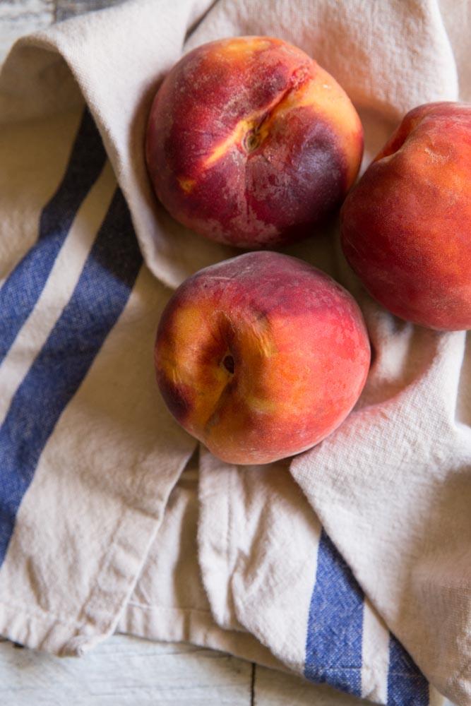Coconut Macaroon Filled Peaches • theVintageMixer.com #eatseasonal