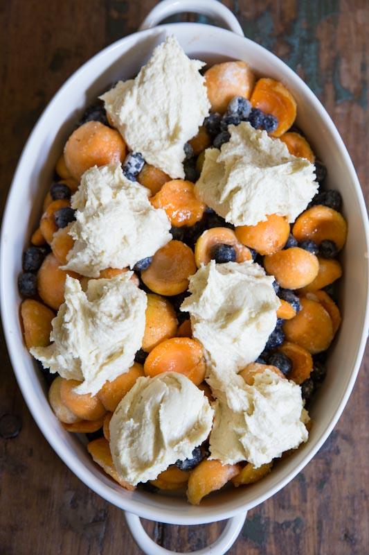 Blueberry Apricot Cobbler Recipe • theVintageMixer.com