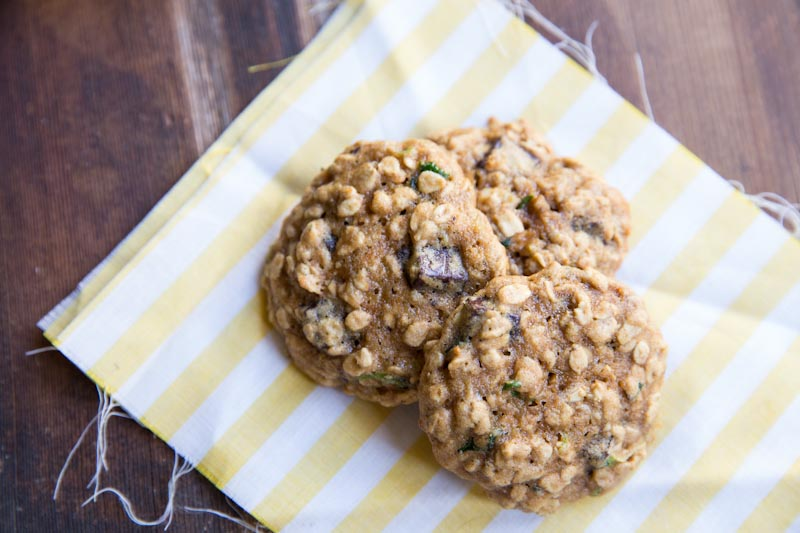 Zucchini Chocolate Chip Cookie Recipe • theVintageMixer.com
