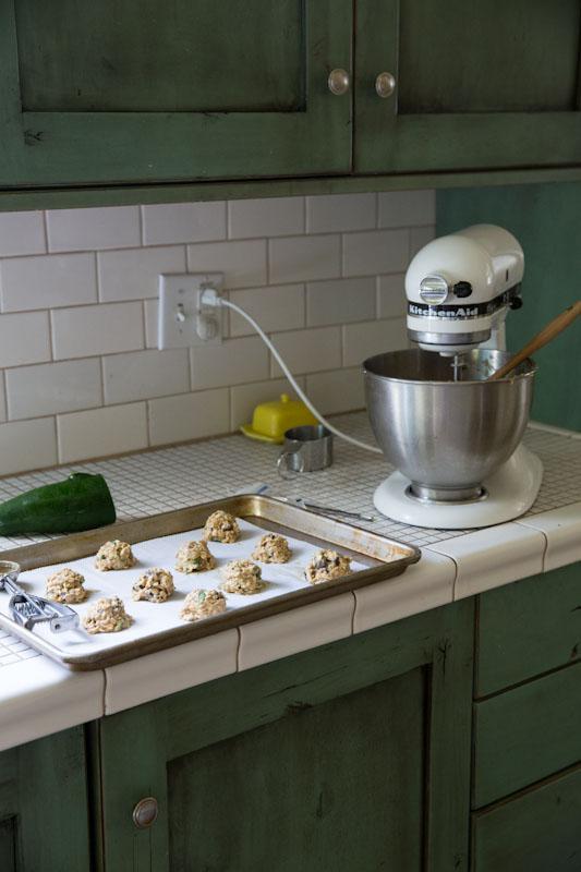 Zucchini Chocolate Chip Cookie Recipe • theVintageMixer.com