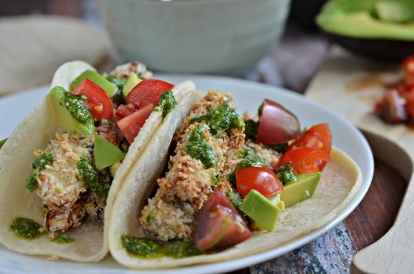 crispy eggplant tacos #eatseasonal
