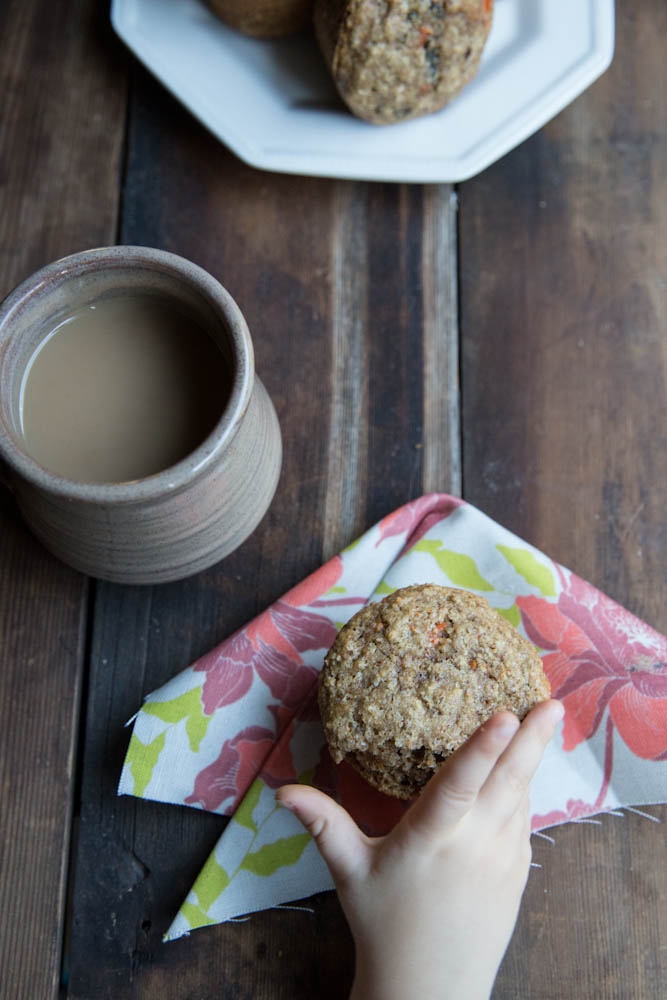 Carrot and Date Bran Muffins • theVintageMixer.com