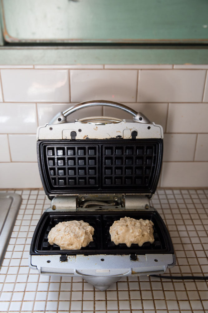Pumpkin Yogurt Waffles Recipe • theVintageMixer.com