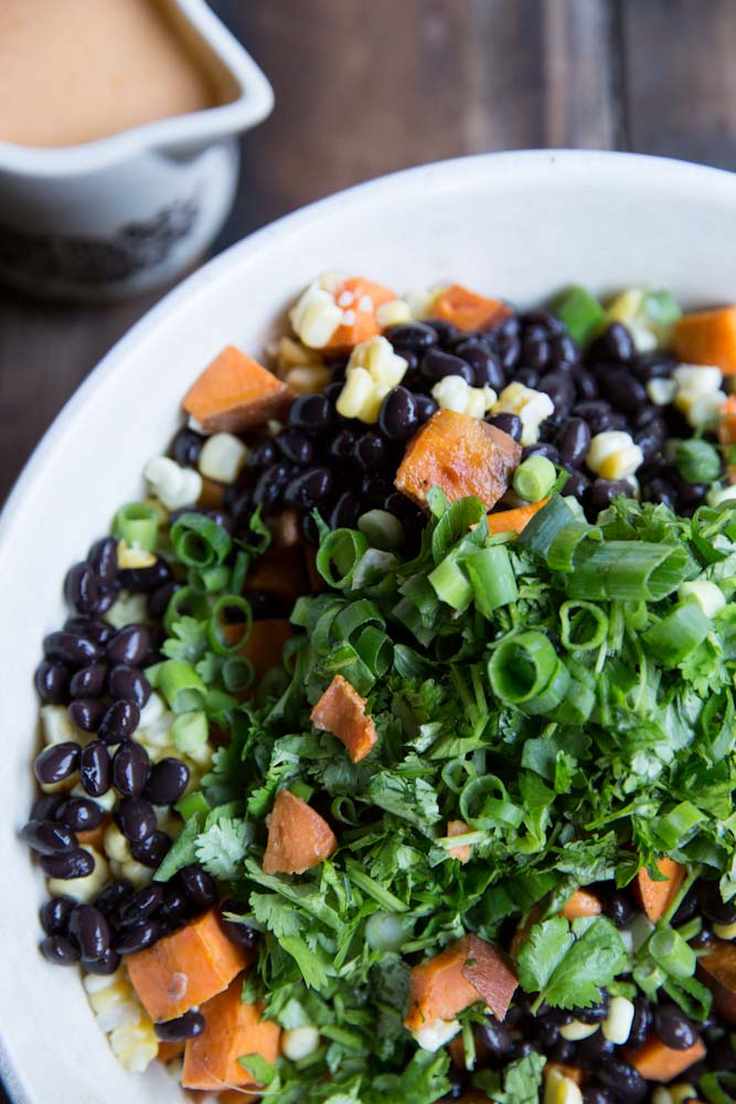 Sweet Potato, Black Bean and Corn Salad Recipe • theVintageMixer.com