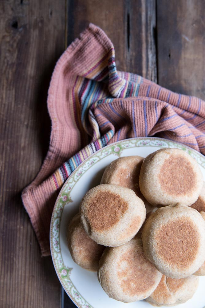 whole wheat english muffin recipe • theVintageMixer.com