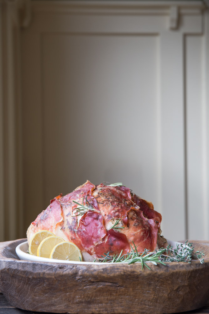 Prosciutto Wrapped Roasted Turkey Recipe • theVintageMixer.com