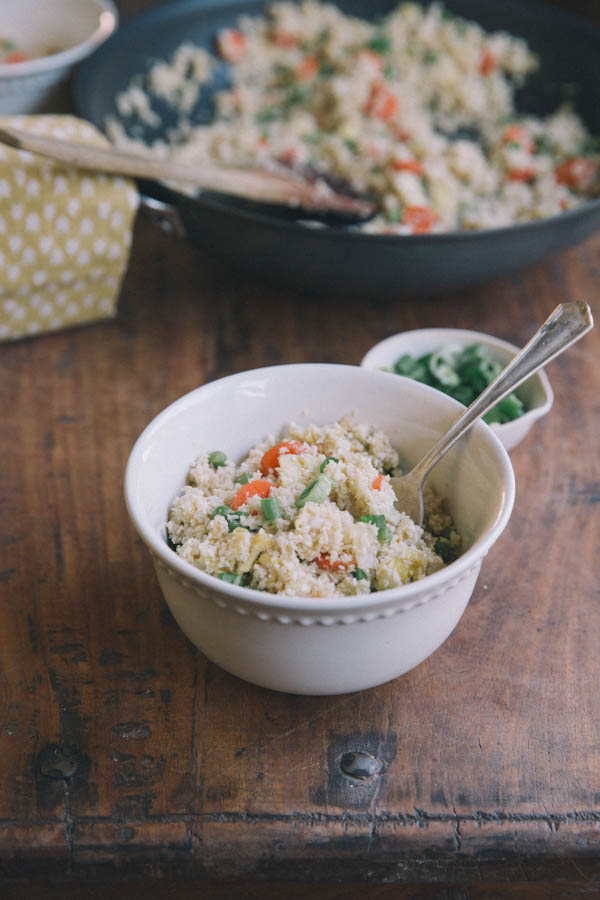 Cauliflower Fried Rice Recipe • theVintageMixer.com