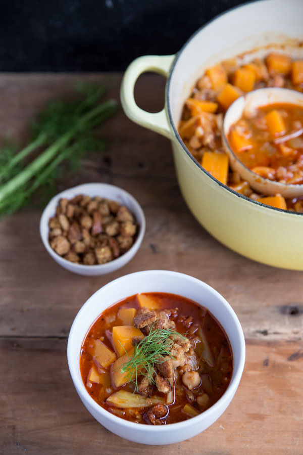 Chickpea Butternut Squash Stew Recipe • theVintageMixer.com