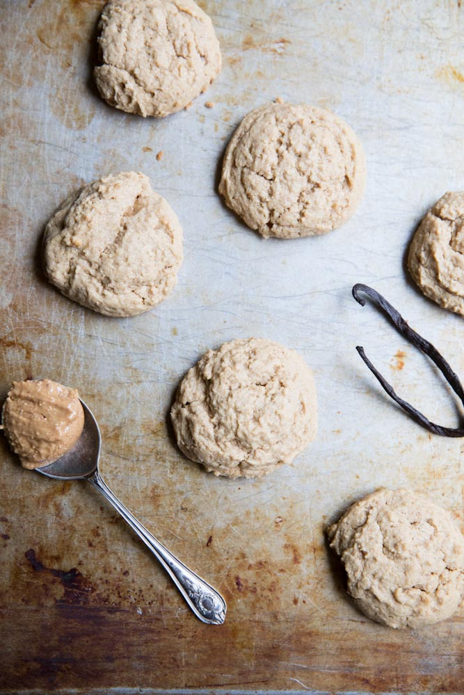 Peanut Butter Maple Cookies • theVintageMixer.com #cookies
