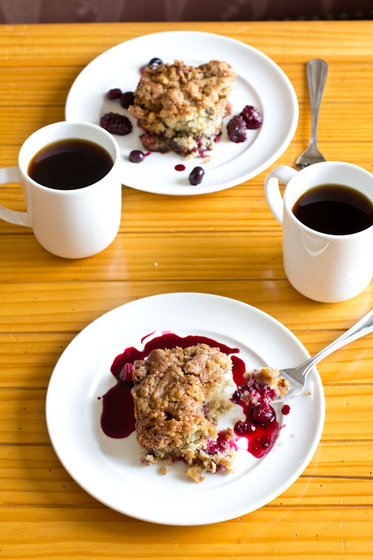 Berry Coffee Cake Recipe • theVintageMixer.com #breakfast