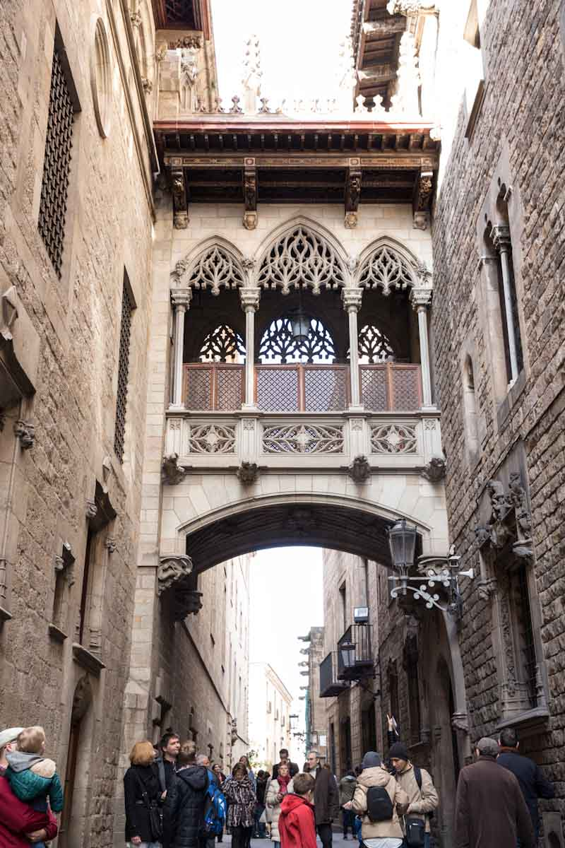 Gothic Quarter in Barcelona Spain • theVintageMixer.com