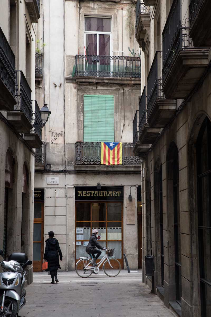 Catalonia Flag in Barcelona