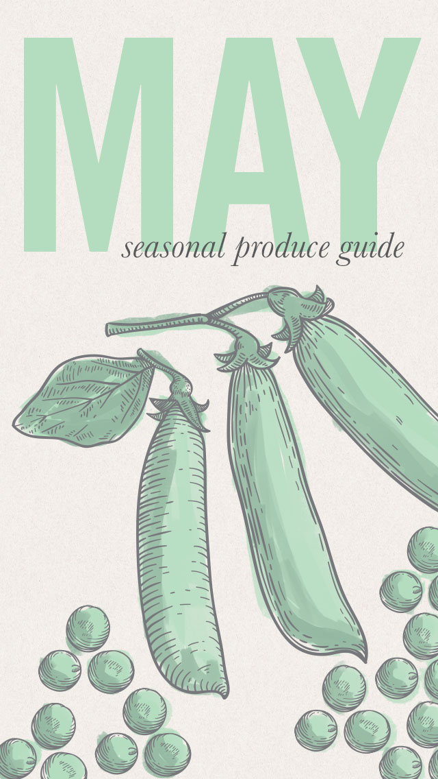 May Seasonal Produce Guide • theVintageMixer.com #eatseasonal