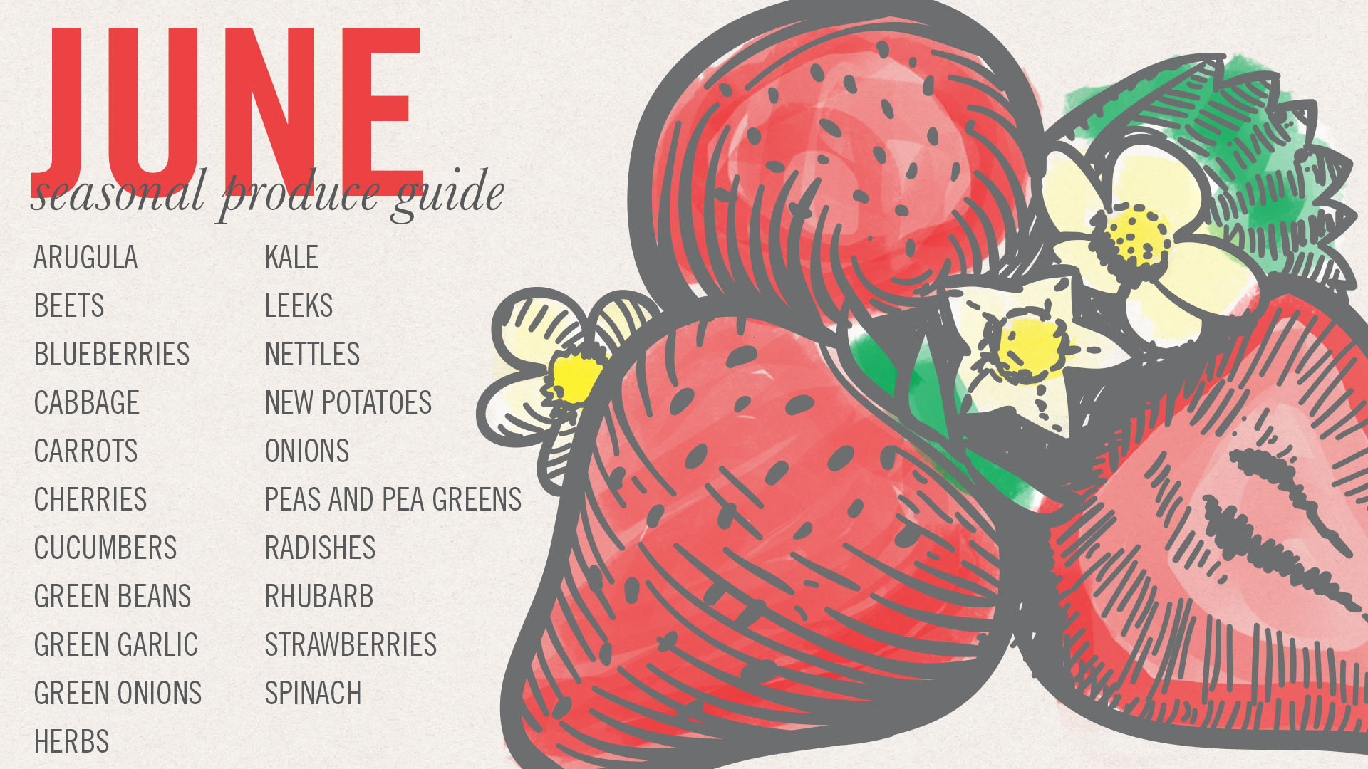 June Seasonal Produce Guide • theVintageMixer.com #eatseasonal