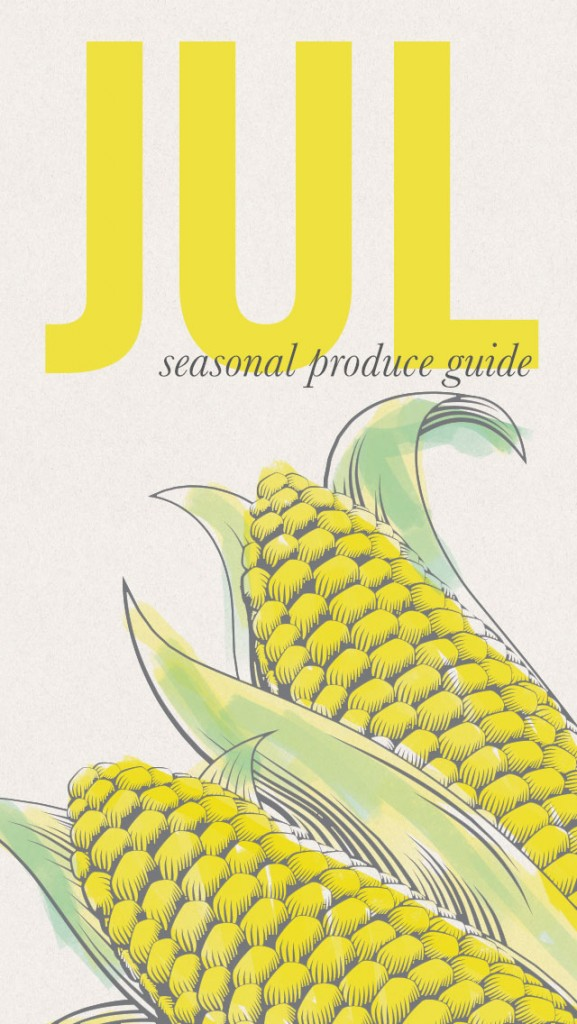 Seasonal Food List for July • a great screensaver for your iPhone #eatseasonal