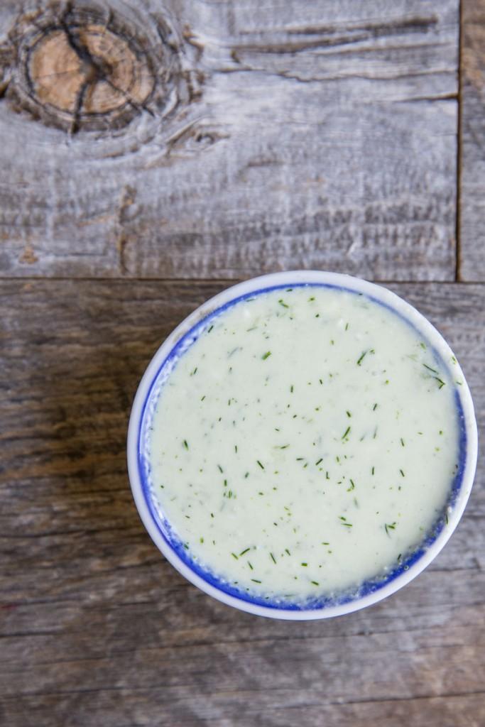 Greek Pasta Salad Dressing • theVintageMixer.com #pastasalad
