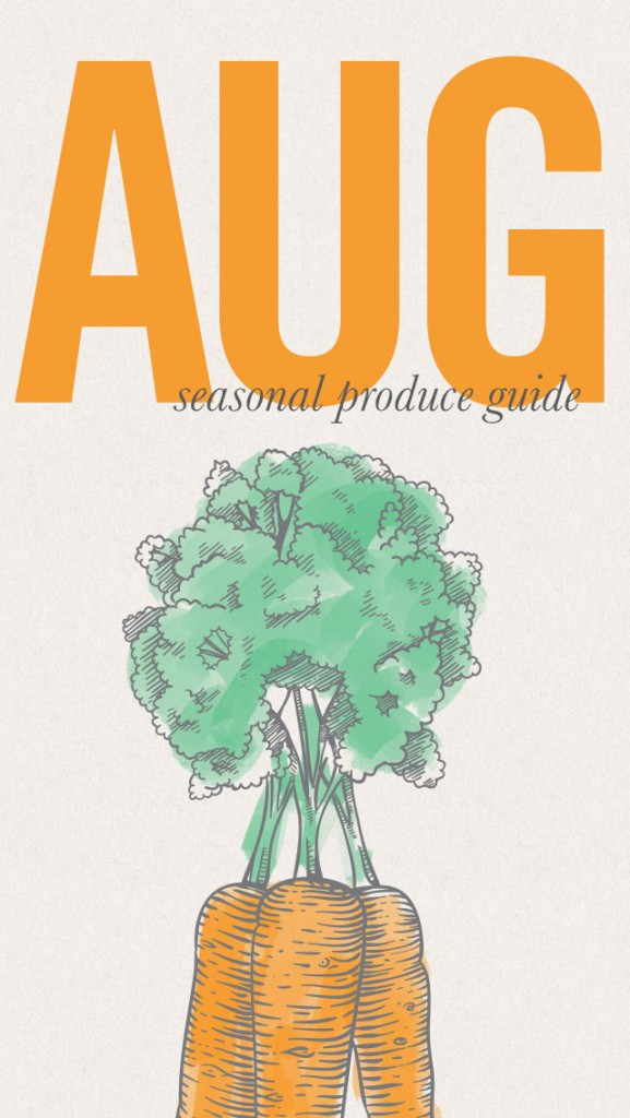 August Seasonal Produce Guide and Recipes • theVintageMixer.com #eatseasonal