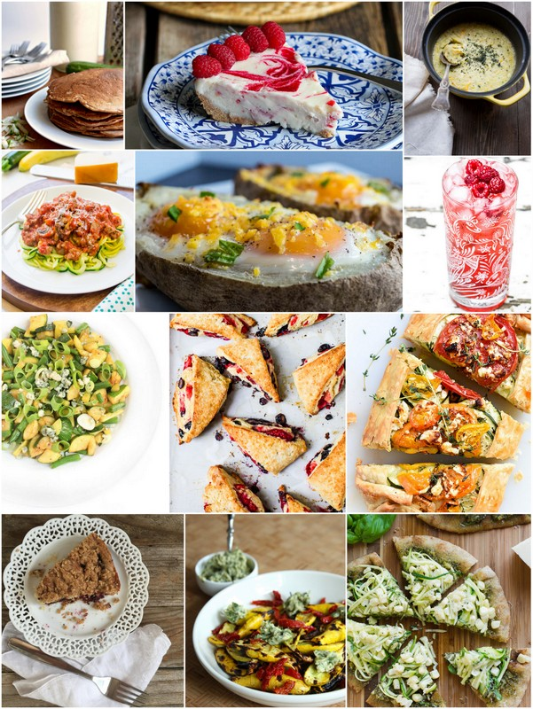 August Seasonal Recipes • theVintageMixer.com #eatseasonal #healthyrecipes