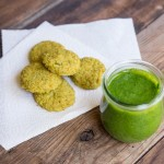 Veggie Nuggets with Easy Spinach Pesto