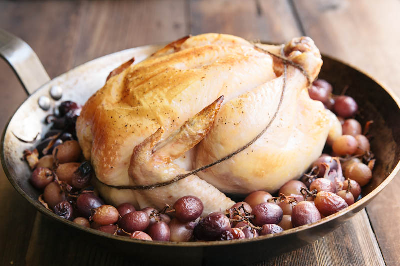 Roasted Chicken and Grapes