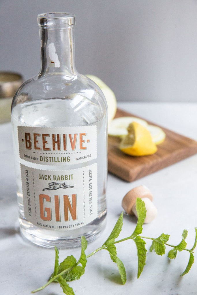 The Botanist Gin Cocktail with Beehive Gin • theVintageMixer.com #cocktailrecipe