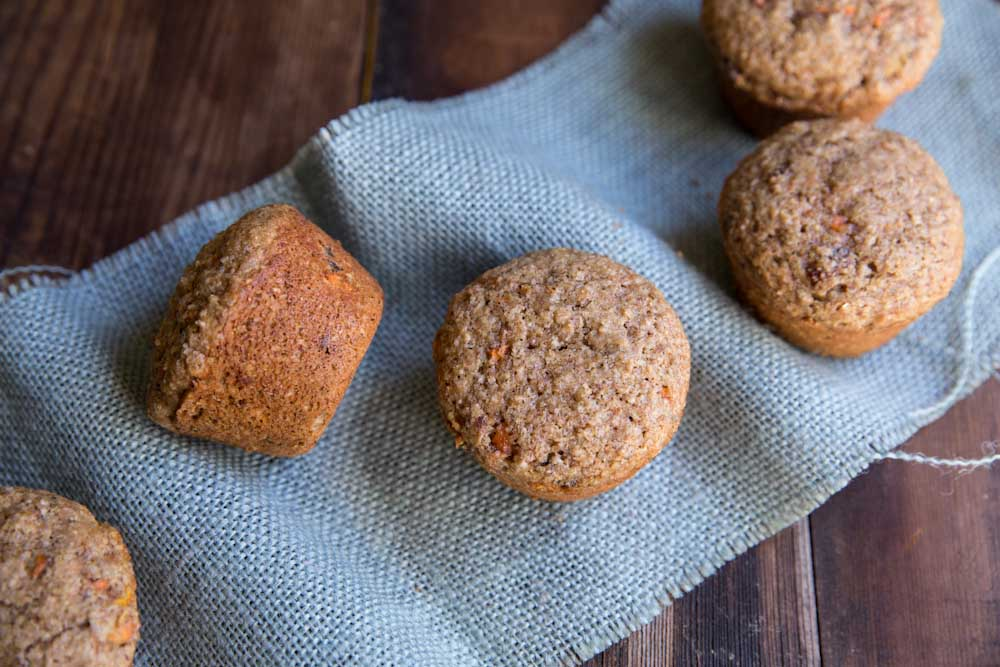 Carrot Date Bran Muffins  • theVintageMixer.com #carrotmuffins #branmuffins #healthybreakfast