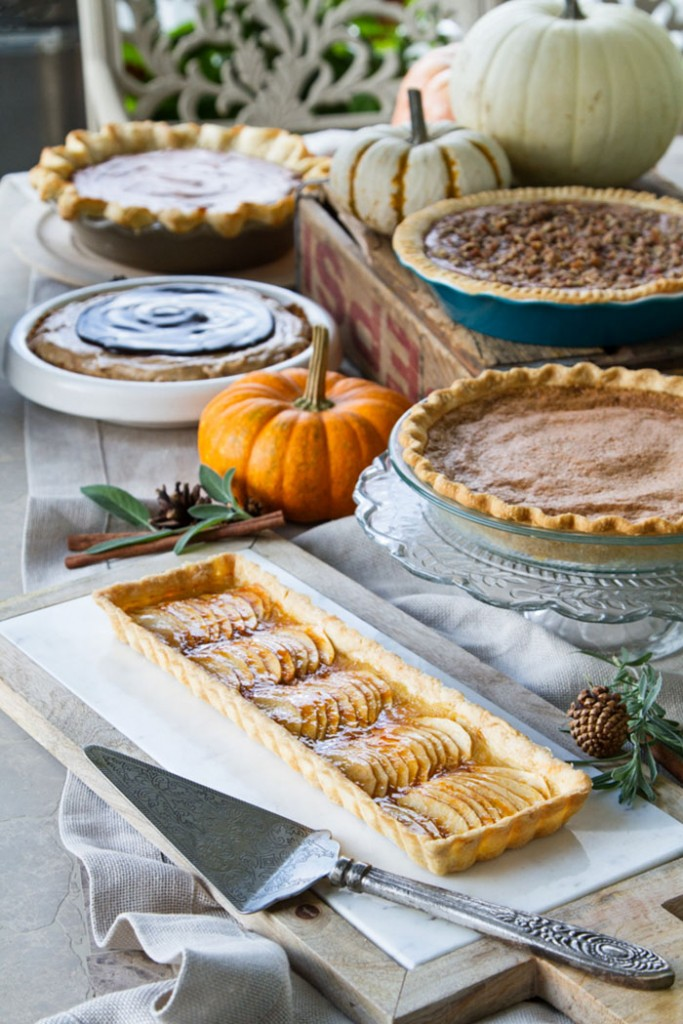 Pie Party • theVintageMixer.com #pie #pierecipes holidayrecipes