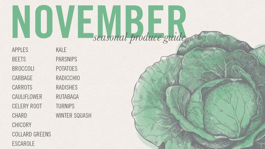 November Seasonal Recipes and Desktop Screensaver •theVintageMixer.com #eatseasonal #healthyrecipes