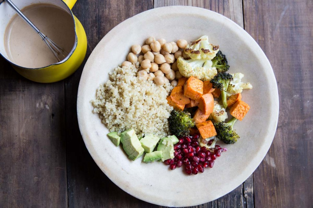 Winter Super Food Bowls with Peanut Sauce