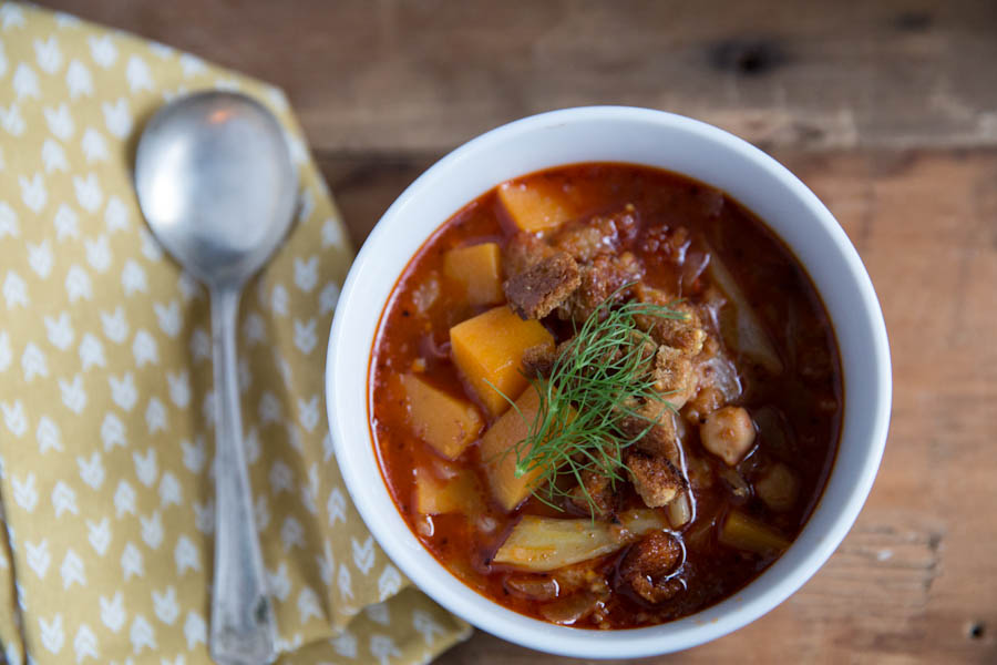 Chickpea and Butternut Squash Stew