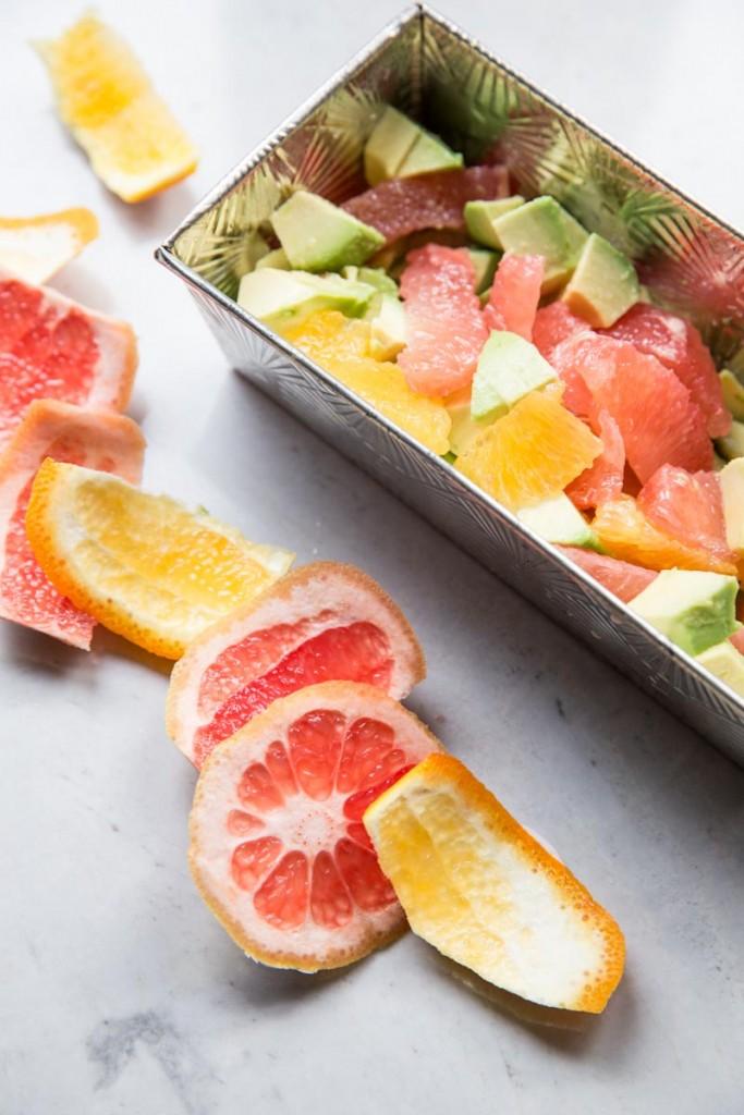 Grapefruit, Orange, and Avocado Salsa • theVintageMixer.com #salsa #avocado #grapefruit