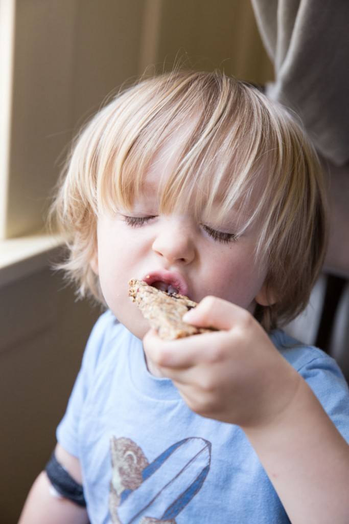 Healthy oat and nut granola bars your kids will love!