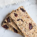 Healthy Nut and Seed Granola Bars with dates and dried cherries