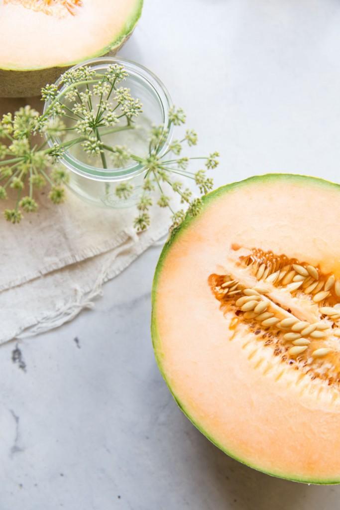Melon Rainbow Sherbet Recipe •theVintageMixer.com #melons #healthydessert #sherbet