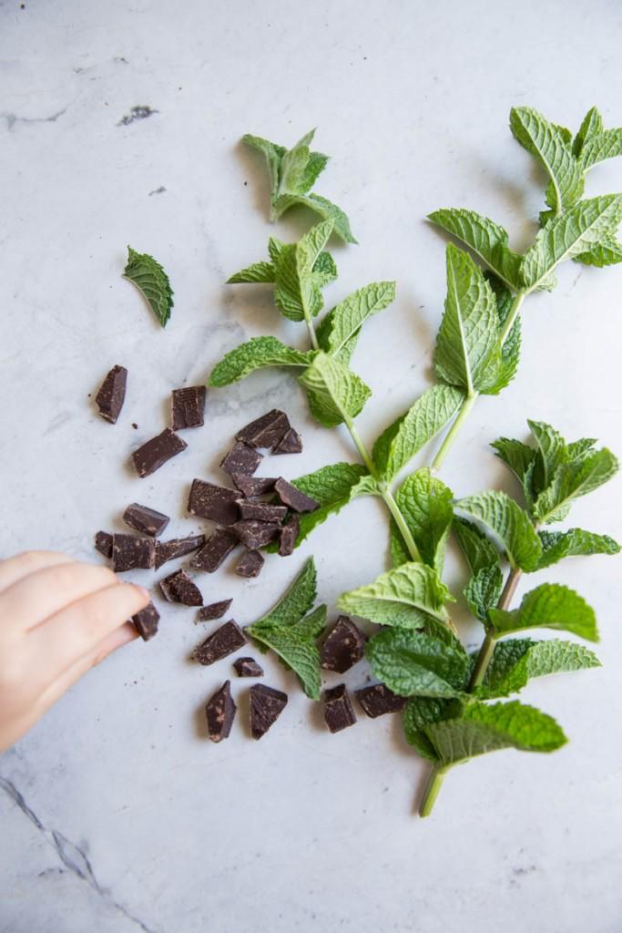 Fresh Mint Chocolate Chip Cookie Recipe •theVintageMixer.com #chocolatechipecookies #cookierecipe