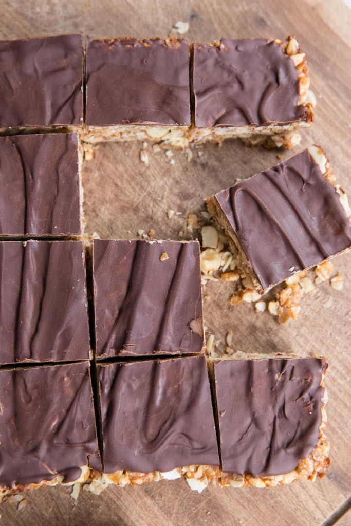 Peanut Butter and Chocolate Bars with Date Caramel