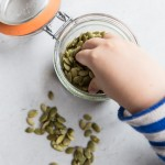 Pumpkin Seed and Cilantro Pesto Recipe • theVintageMixer.com #pesto #pumpkinseeds