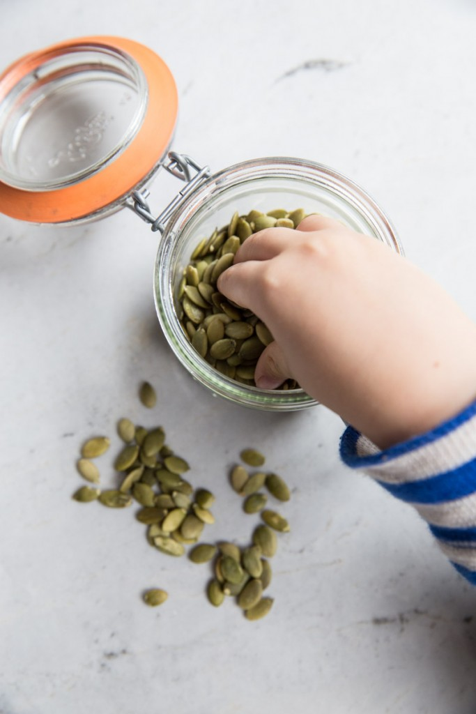 Pumpkin Seed and Cilantro Pesto Recipe  • theVintageMixer.com #pesto #pumpkinseeds