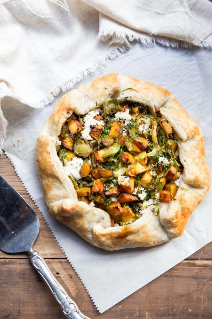 Butternut Squash And Goat Cheese Galette Recipe — Dishmaps