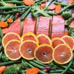Orange Sesame Salmon Sheet Pan Dinner Recipe
