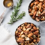 Rosemary and Honey Spiced Nuts with Mother E Oil