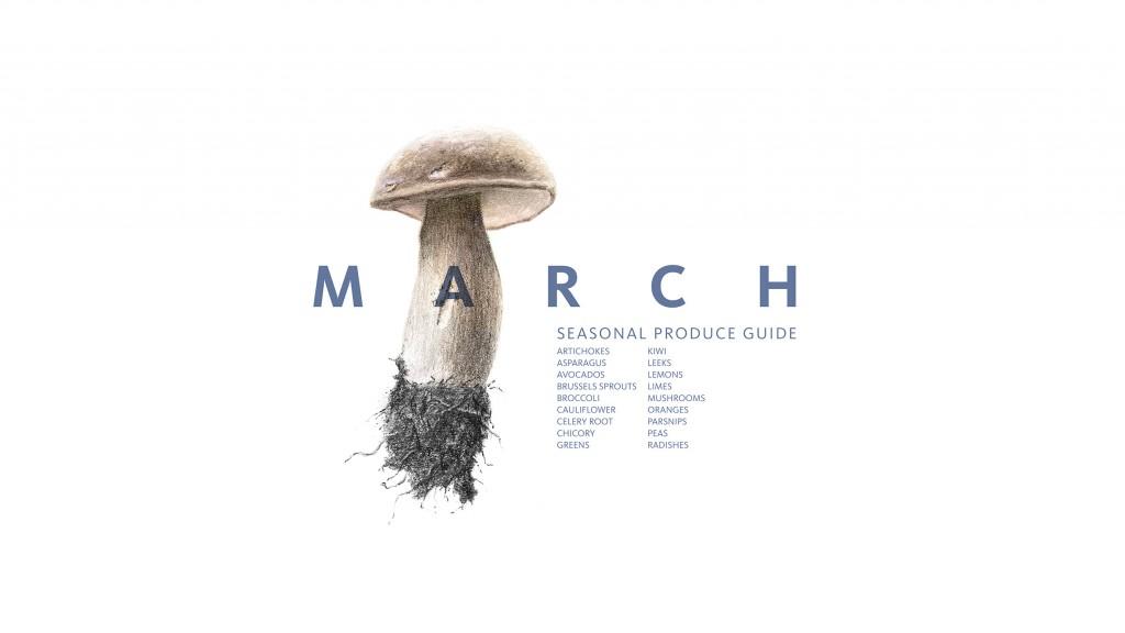 March Seasonal Produce Guide •theVintageMixer.com #eatseasonal #seasonalrecipes #healthyrecipes