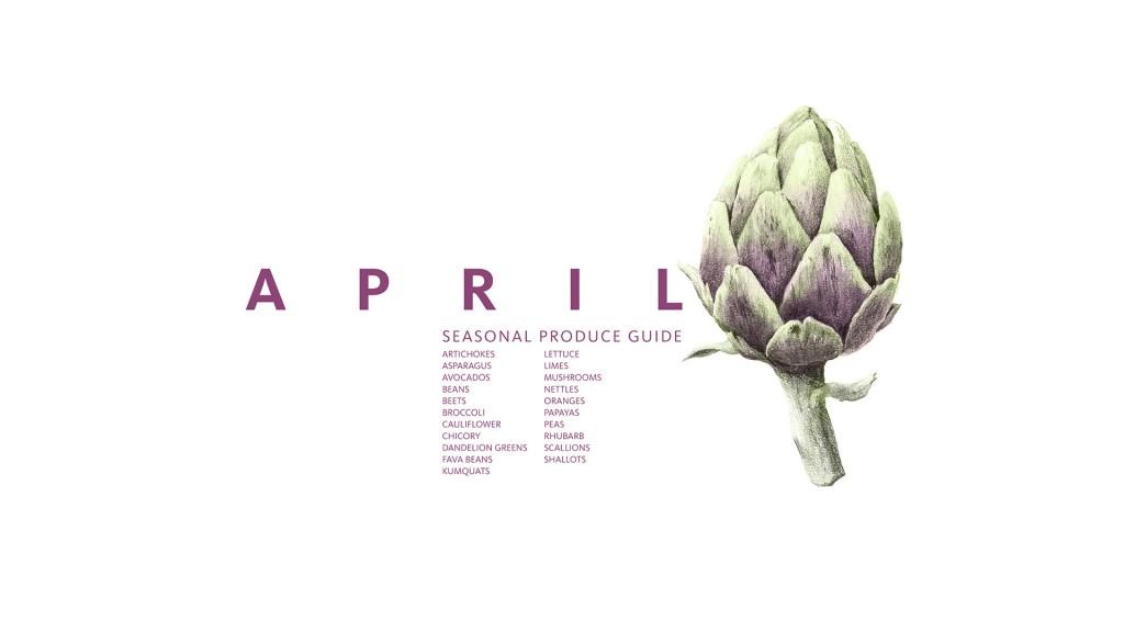 April Eat Seasonal Recipe Guide • theVintageMixer.com #eatseasonal #healthyrecipes #seasonalrecipes