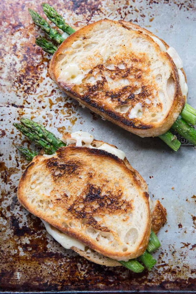 Roasted Asparagus Grilled Cheese | Vintage Mixer
