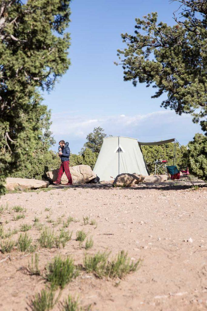 Our new Springbar Canvas Tent made our camping experience so much more comfortable