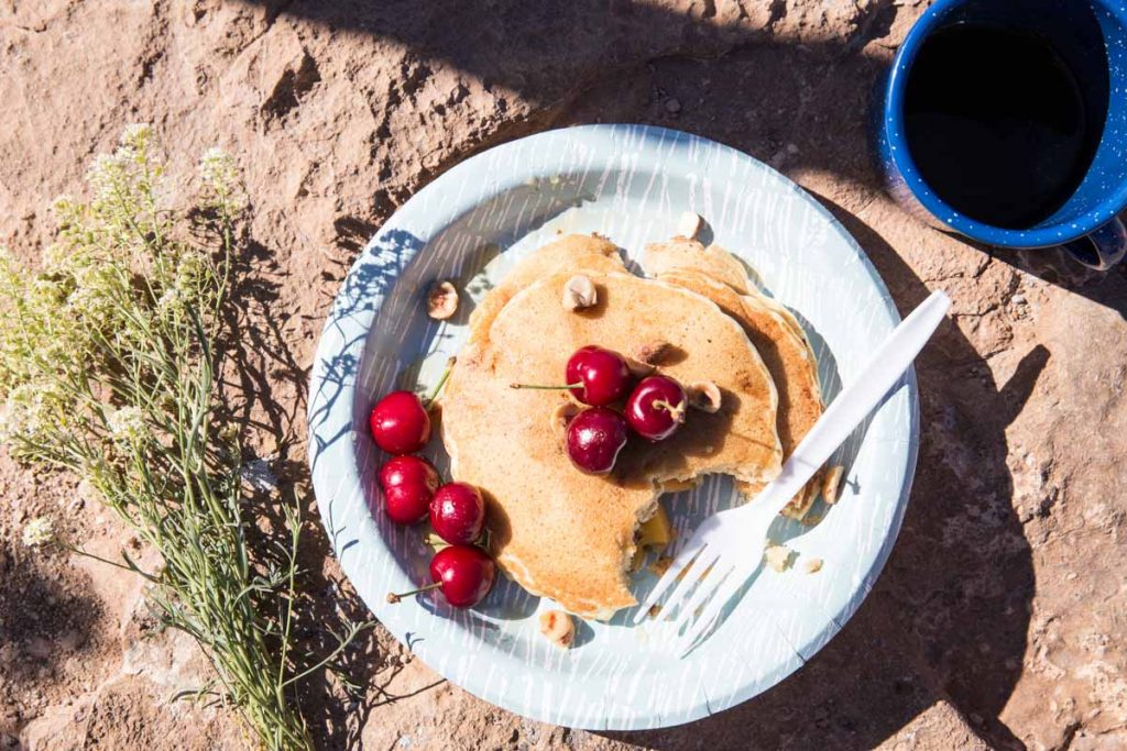 Prep these pancakes before you leave home and have easy hearty, pancakes when you go camping