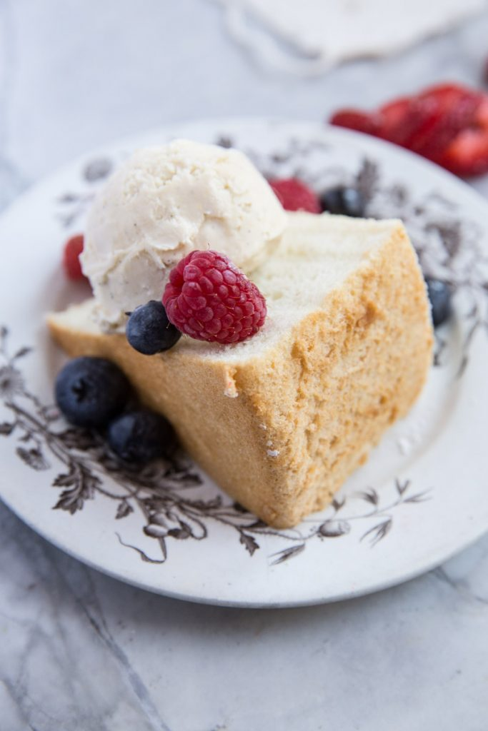This Angel Food Cake is healthier than most and without any of the chemicals found in store bought versions.